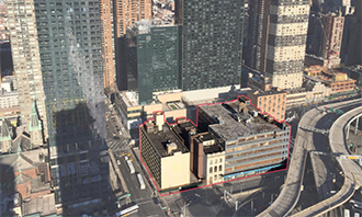 Hell's Kitchen development site on 10th Avenue