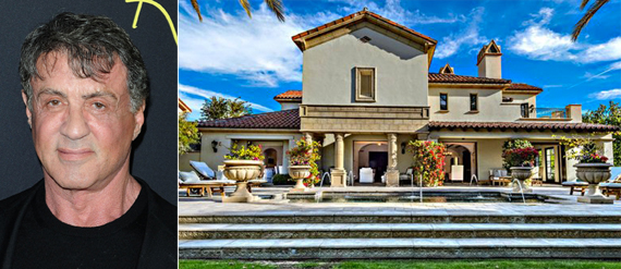 From left, actor Sylvester Stallone and his La Quinta home