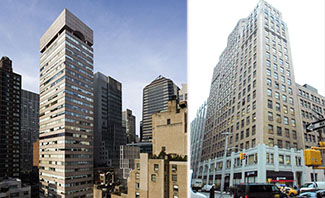 From left: 126 East 56th Street and 386 Park Avenue South