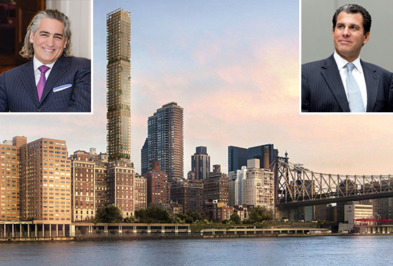3 Sutton Place on the Upper East Side (inset from left: Joseph Beninati and JLL's Peter Riguardi)