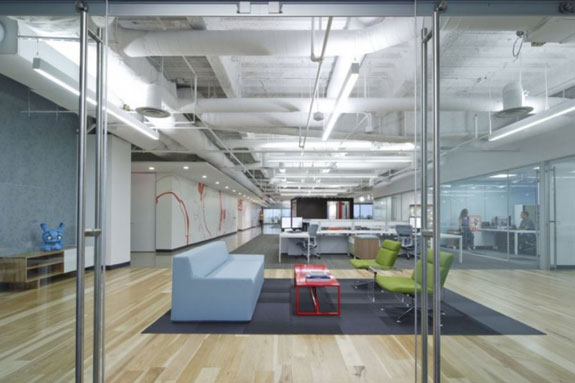 Modern-Designs-for-Office-Doors-With-Silver-Frame-Glass