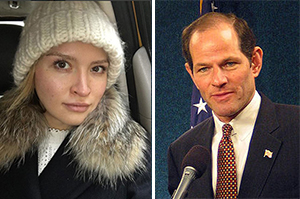Svetlana Travis and Eliot Spitzer