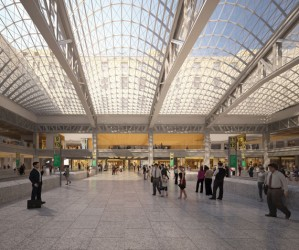 A rendering of Farley Post Office, which will be redeveloped into a train hall for Amtrak.