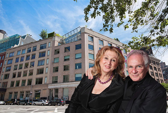 David and Sybil Yurman and their Greenwich Street building