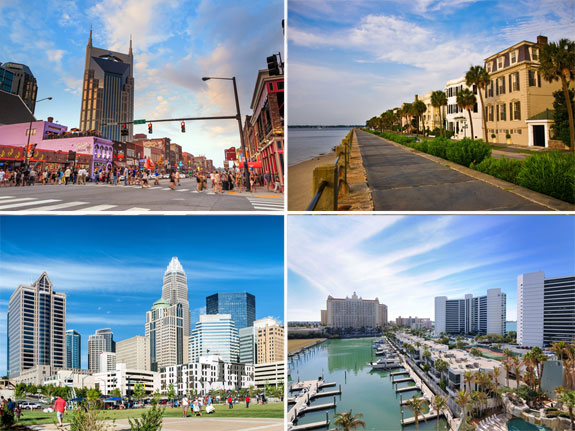 Top southern cities