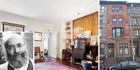 136 West 81st Street (photo on left credit: Douglas Elliman) (inset: Chaim Potok)
