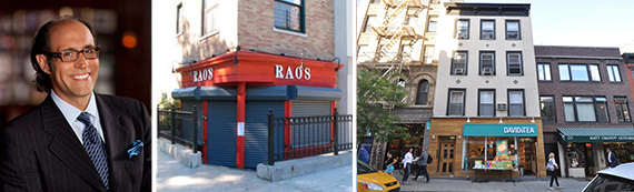 Rao's co-owner Frank Pellegrino, 269 Mount Pleasant Avenue and 275 Bleecker Street