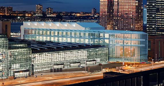 Rendering of the Jacob Javits Center