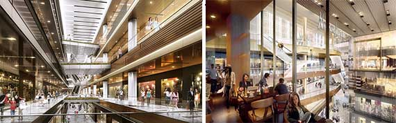 Renderings of the Shops at Hudson Yards (Credit: Related and Oxford)