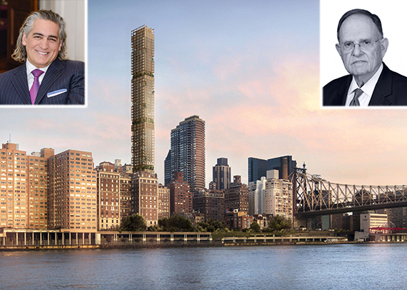 Joseph Beninati, Richard Kalikow and a rendering of 3 Sutton Place