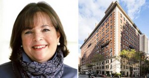 From left: Ina Garten and the Philip House on the Upper East Side