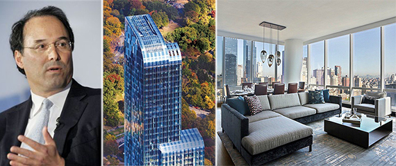 From left: Gary Barnett, One57 and a furnished rental at the tower