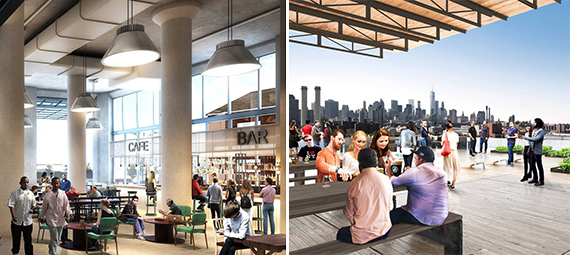 Renderings of Building 77 at the Brooklyn Navy Yard (credit: Marvel Architects and David Brody Bond)