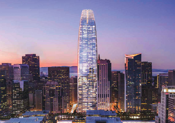 Rendering of Salesforce Tower