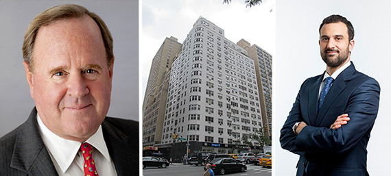 From left: Rockpoint co-founder Bill Walton, 300 East 46th Street and Will Silverman