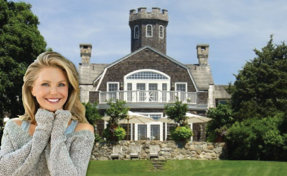 """Christie Brinkley and her $30 million """"Tower Hill"""" estate in the Hamptons"""