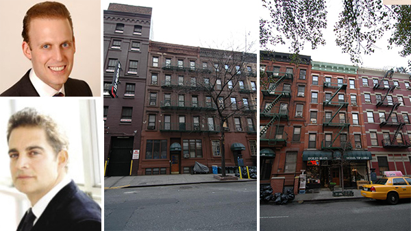 308 West 49th Street and 340 West 49th Street in Hell's Kitchen (inset from top: Meyer Orbach and Aaron Jungreis)