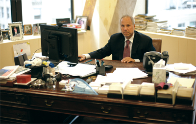Howard Michaels in his office at 560 Lexington Avenue last month.
