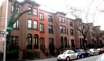 Rowhouses on Kane Street between Clinton Street and Tompkins Place in Cobble Hill