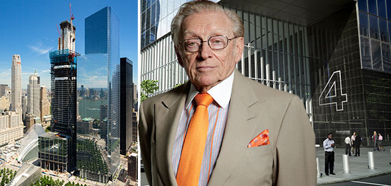Larry Silverstein with 3 and 4 World Trade Center