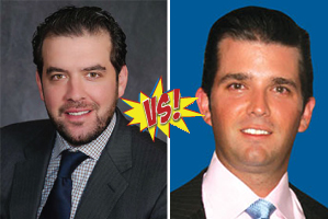Jonathan Kushner and Donald Trump Jr.