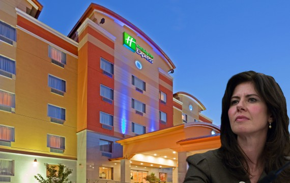 Holiday Inn Express at 59-40 55th Road in Queens and Elizabeth Crowley