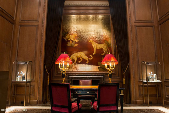 the-panther-motif-can-be-see-throughout-the-mansion-like-in-this-large-painting-its-a-cartier-symbol-dating-back-to-1914-when-the-brands-advertising-featured-a-panther