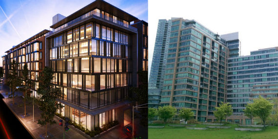 The Oosten at 429 Kent Avenue in Williamsburg and The View at East Coast in Long Island City.