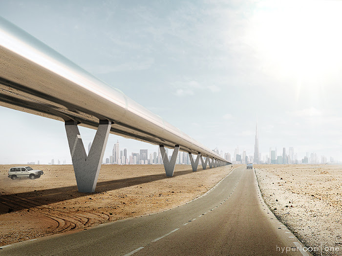 The hyperloop would move at extremely high speeds