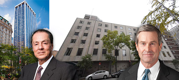 From left: 1250 Broadway, Global Holdings Eyal Ofer, 340 East 24th Street and Invesco's R. Scott Dennis