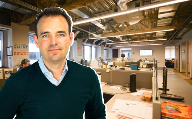 The Renovo office and CEO Kevin Werner