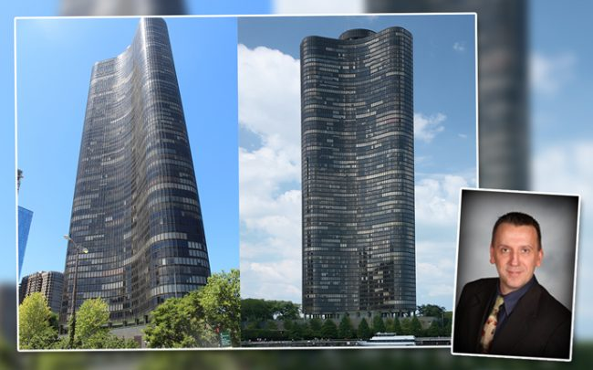 Lake Point Tower located at 505 N. Lake Shore Drive Coldwell Banker agent Jack Michalkiewicz (Credit: Wikimedia Commons)