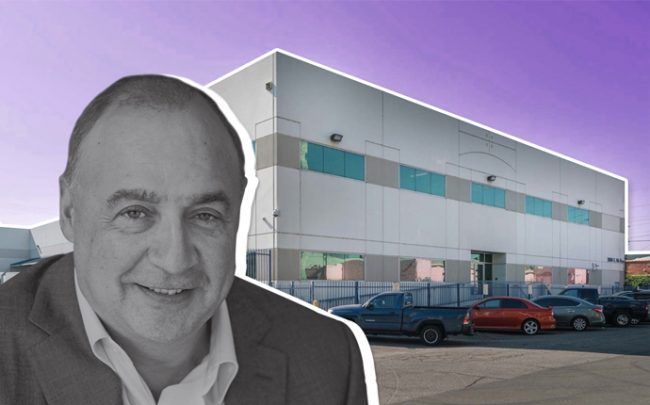 Access Industries founder Len Blavatnik and the warehouse in DTLA