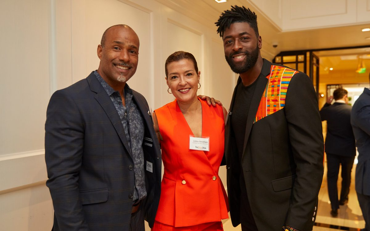 From left: Damón Benefield, Licica Benefield, and Justin Spio (Credit: Jeff Newton)