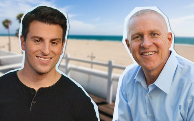 Airbnb's Brian Chesky and Mike Bonin, LA city councilman for Venice