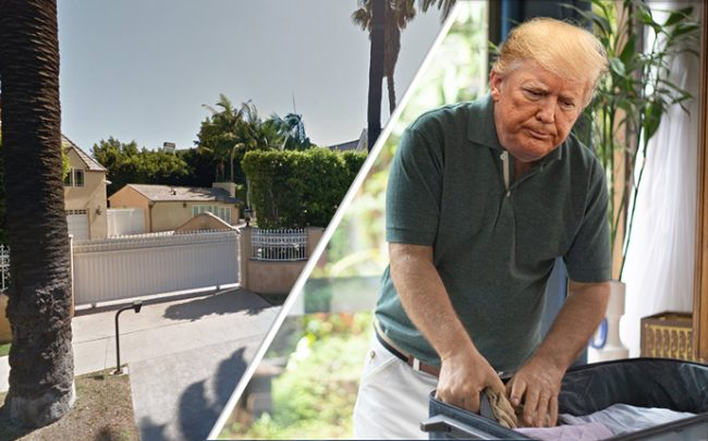 Donald Trump has sold his home in Beverly Hills (Credit: Getty Images, iStock, and Google Maps)