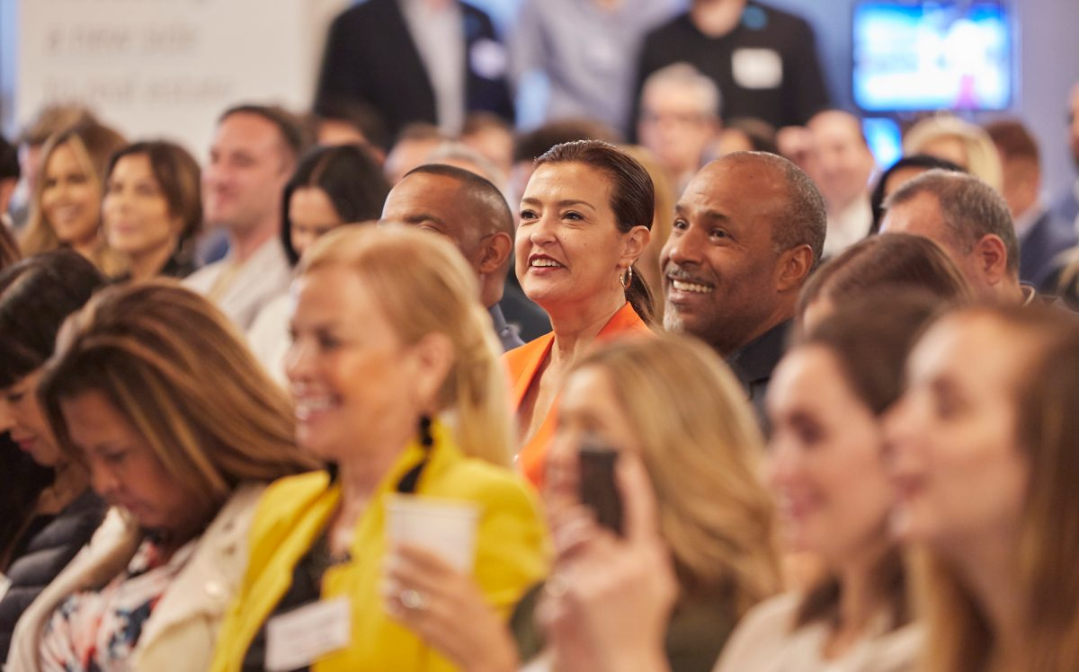 Damón Benefield and Licica Benefield in the crowd at The Real Deal's residential real estate showcase (Credit: Jeff Newton)