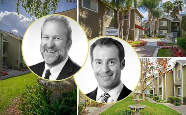 Benedict Canyon Equities co-founding principal Jim Rosten and CEO Ryan Somers with Sagewood Gardens