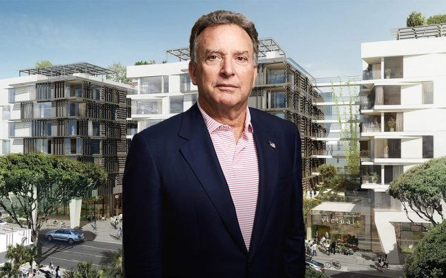 Witkoff Group's Steve Witkoff and a rendering of the project at 500 Broadway
