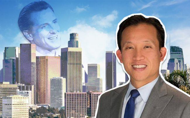 From left: Gavin Newsom and David Chiu (Credit: Getty Images and iStock)