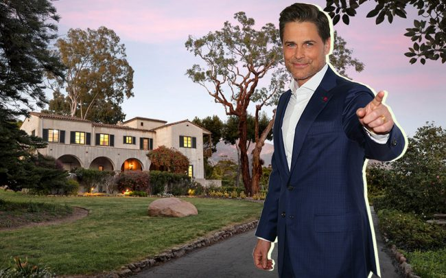 Rob Lowe and his 5,700-square-foot Montecito home (Getty, Redfin)