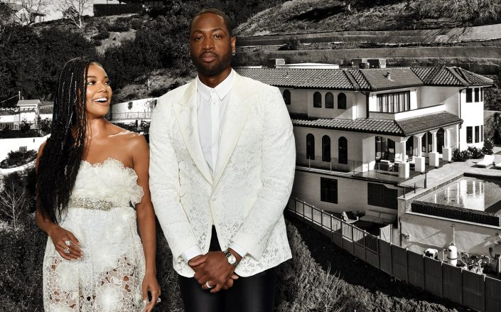 Dwyane Wade and Gabrielle Union dropped the asking on their Sherman Oaks mansion, a year after buying big in Hidden Hills. (Getty, Hilton & Hyland)