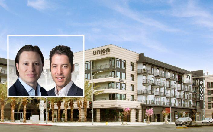 Standard Communities Co-Founders Scott Alter and Jeffrey Jaeger with the Union South Bay complex (Standard Communities)