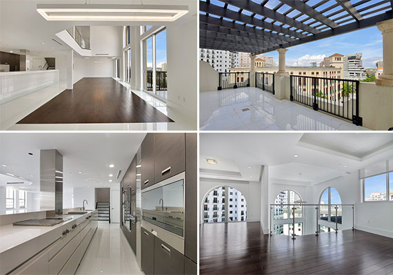 Pictures from the penthouse at 55 Merrick Way