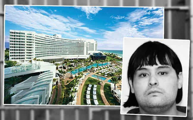 Anthony Gignac and Fontainebleau Miami Beach (Credit: Maimi-Dade police)