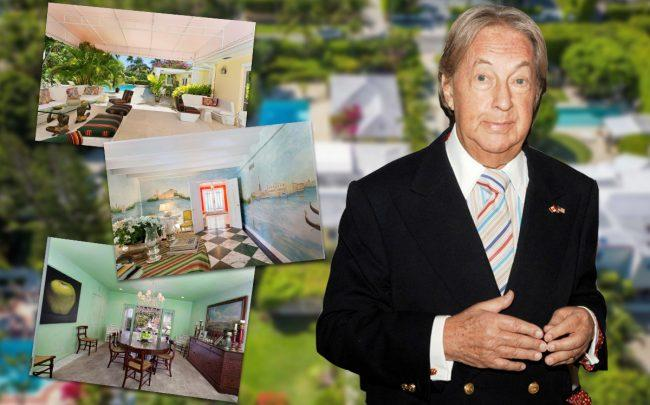 Arnold Scaasi and his Palm Beach property (Credit: Getty Images, Realtor)