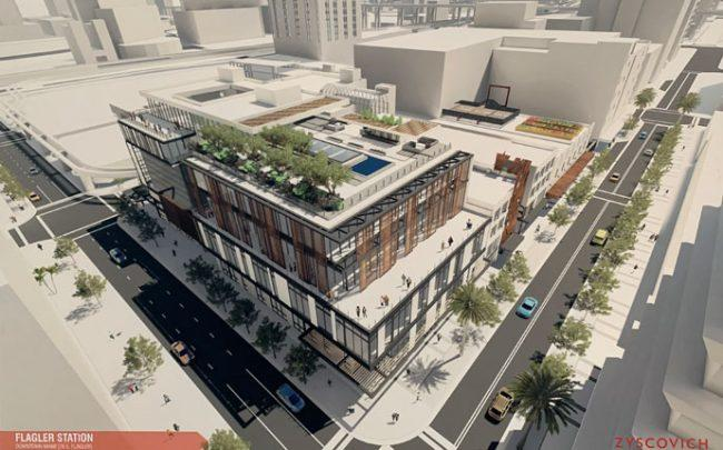 A rendering of the project
