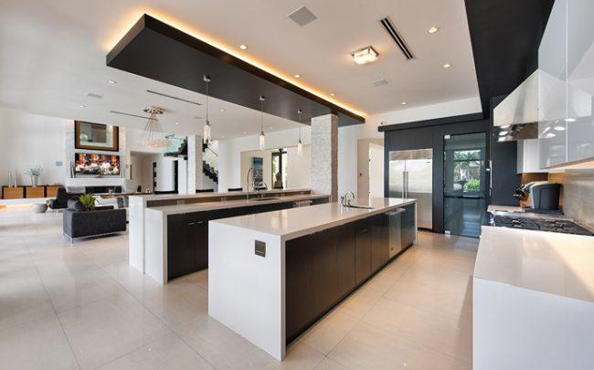 The kitchen in the home