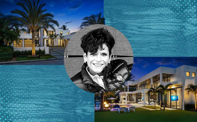 Maggie Hardy-Knox and 444 East Coconut Palm Road in Boca Raton (Photos via 84 Lumber and Royal Palm Properties)