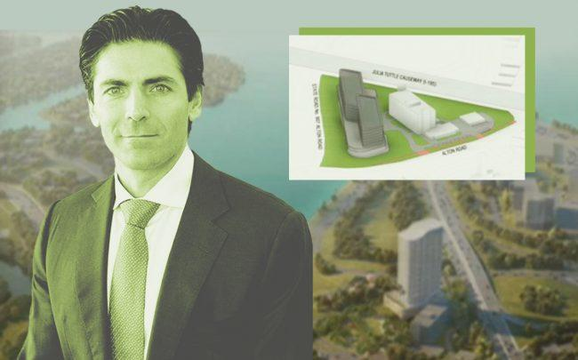 Camilo Miguel Jr. and rendering of 4000 Alton Road